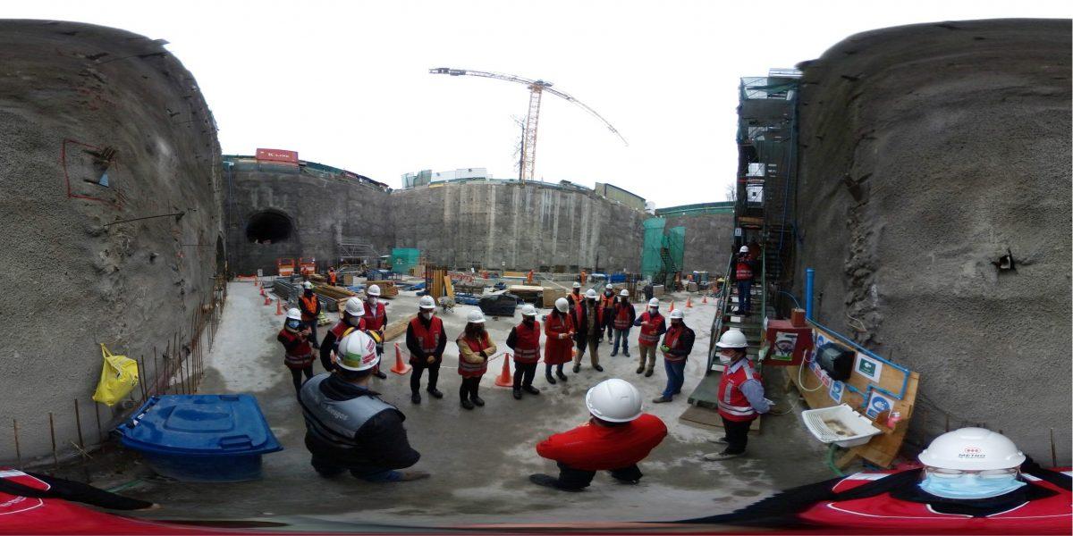 MOVYT participa en visita a la extensión de la Línea 2 del Metro