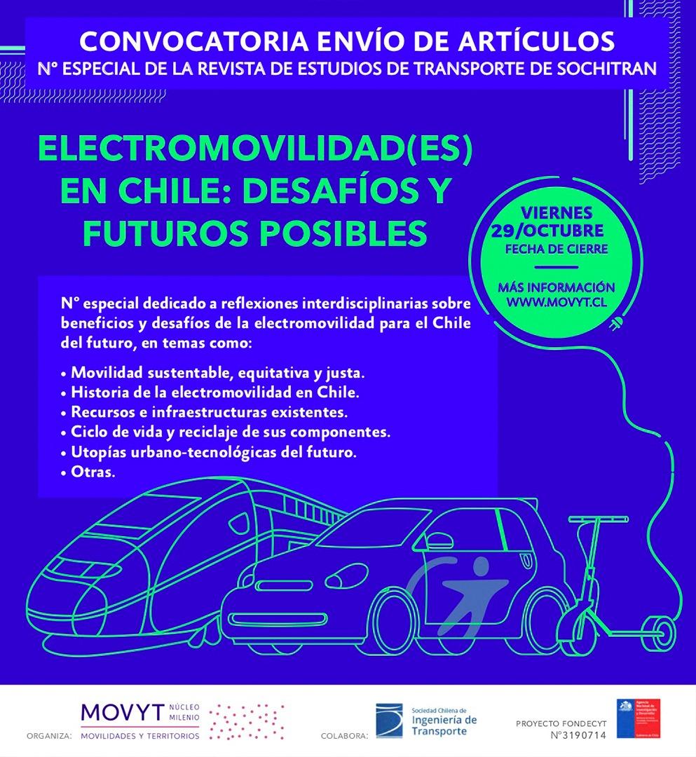 CONVOCATORIA Electromovilidad(es) en Chile: desafíos y futuros posibles